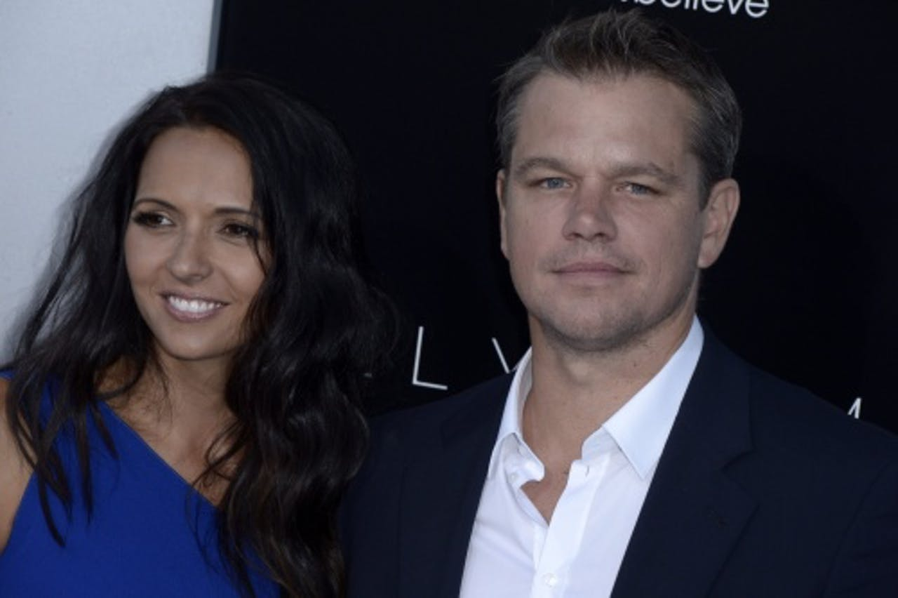 Matt Damon en zijn vrouw Luciana Barroso. EPA