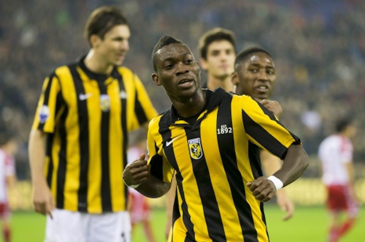 Christian Atsu (M) van Vitesse heeft de 1-0 gescoord tegen FC Utrecht. ANP PRO SHOTS