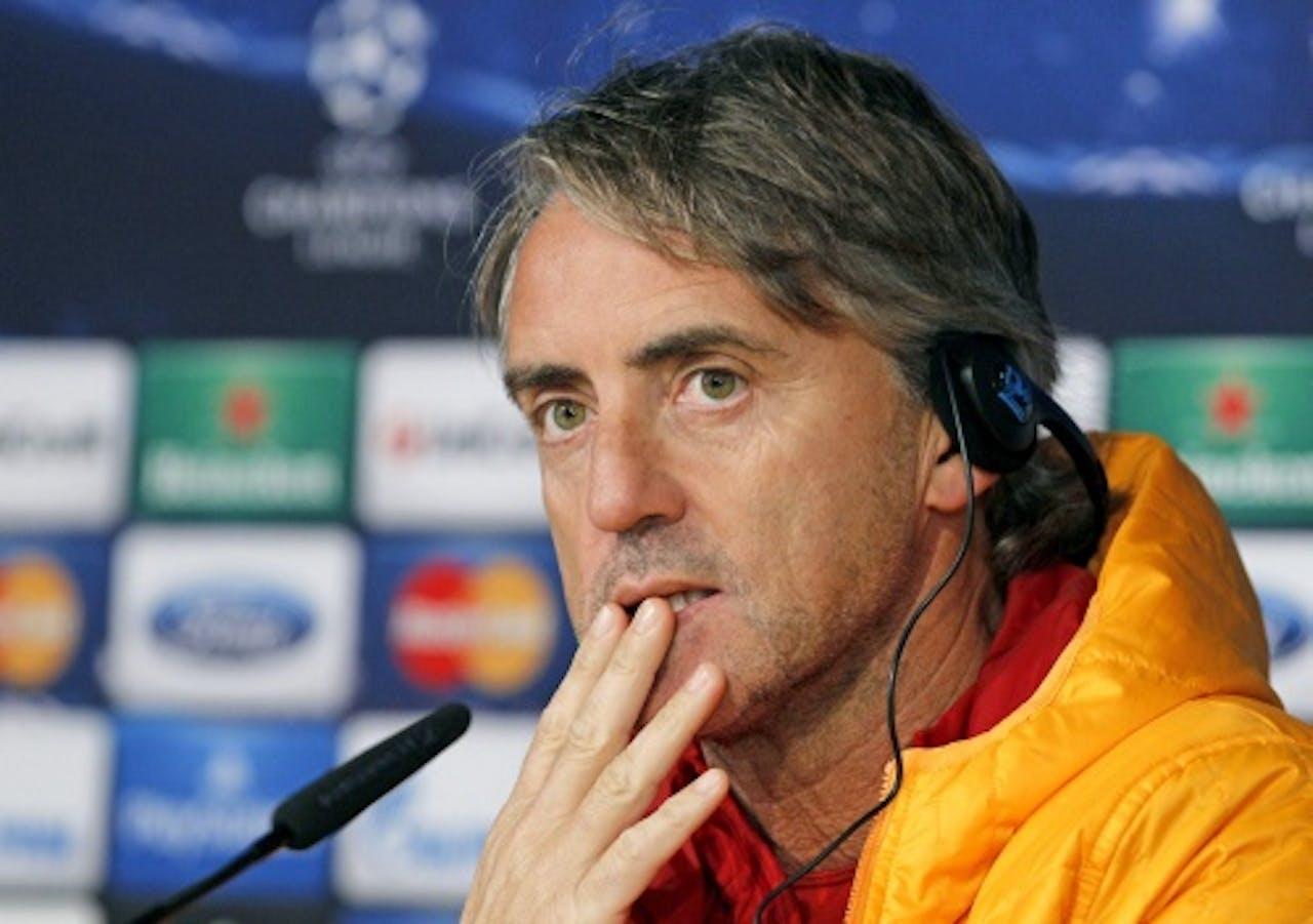 Galatasaray-trainer Roberto Mancini. EPA