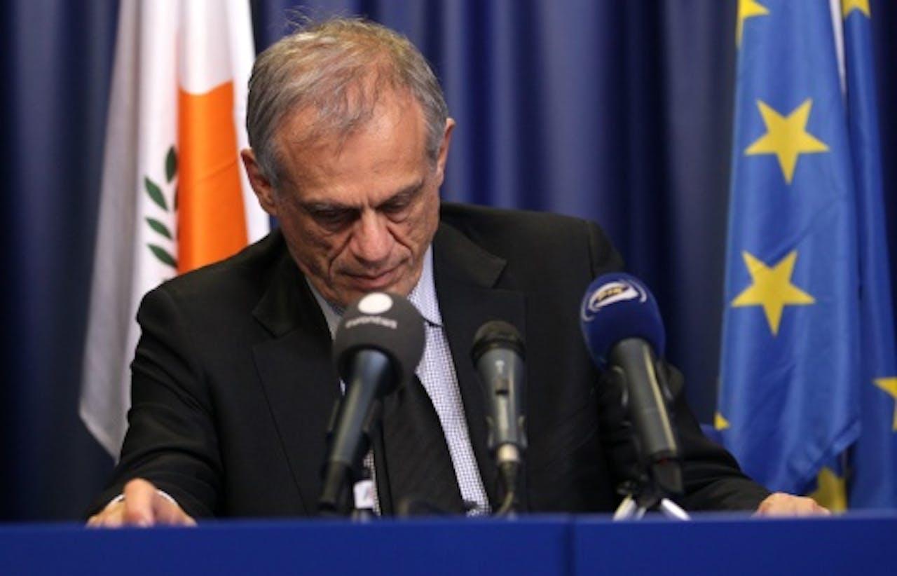 Minister van Financiën Cyprus Michaelis Sarris. EPA
