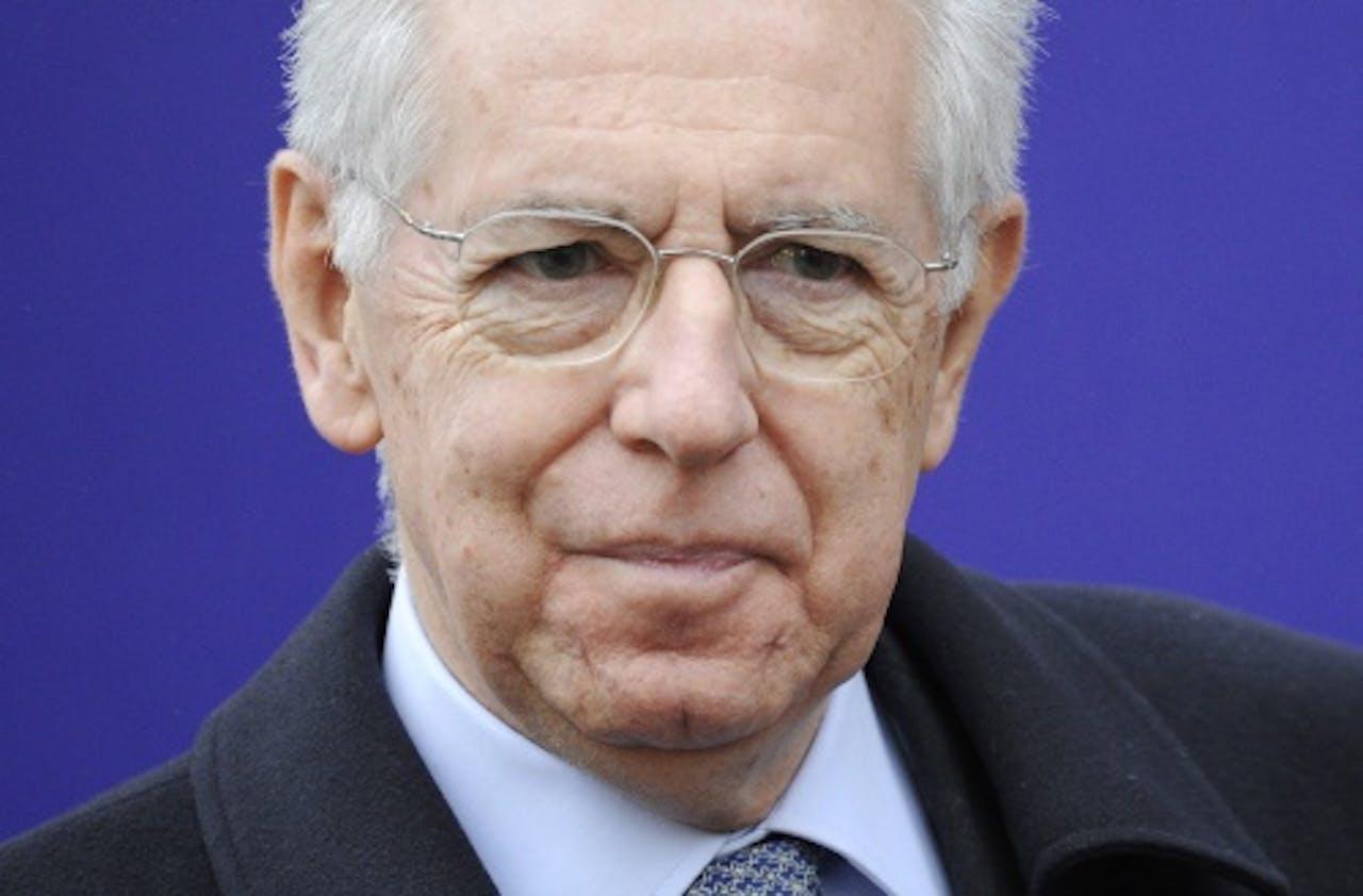De Italiaanse premier Mario Monti. EPA