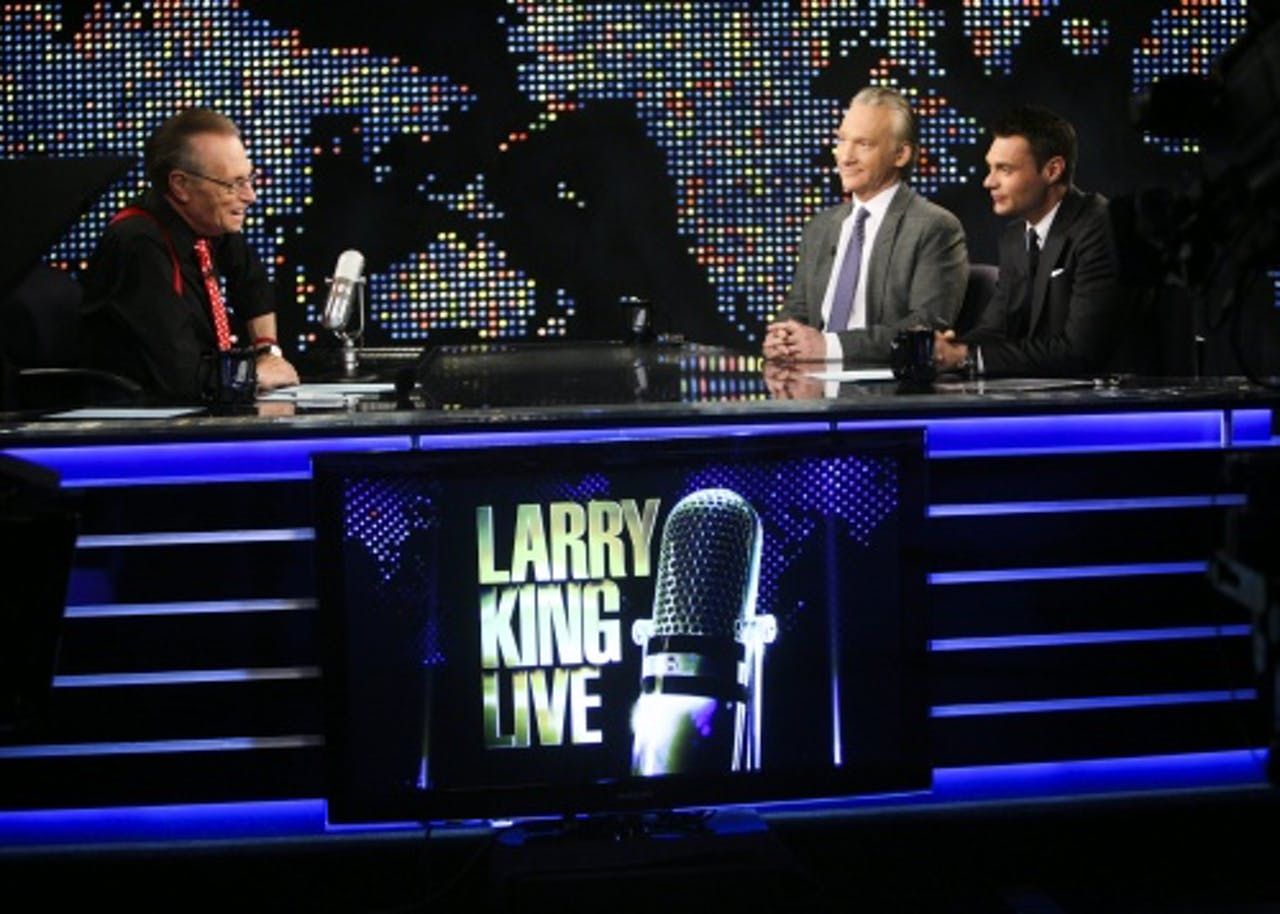 Archiefbeeld Larry King (L). EPA