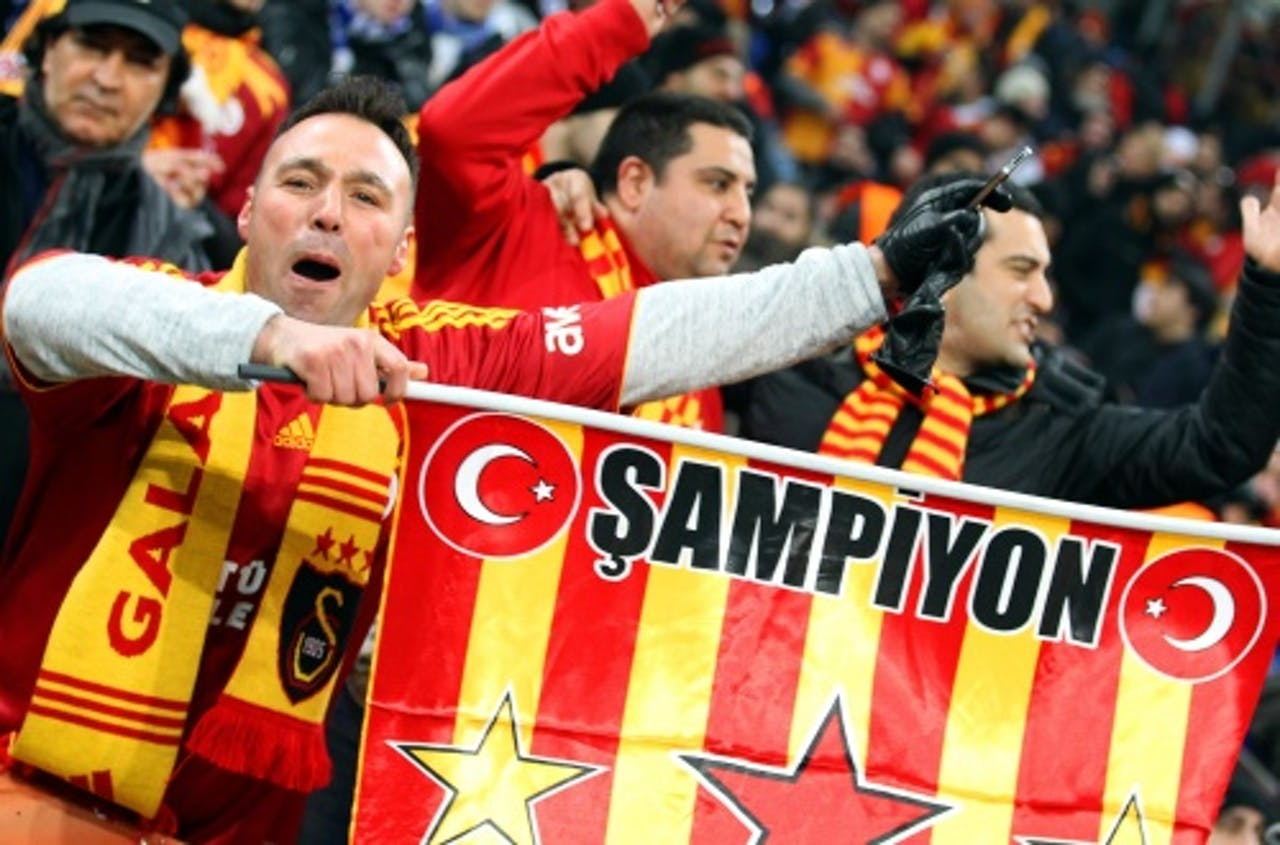 Supporters van Galatasaray. EPA