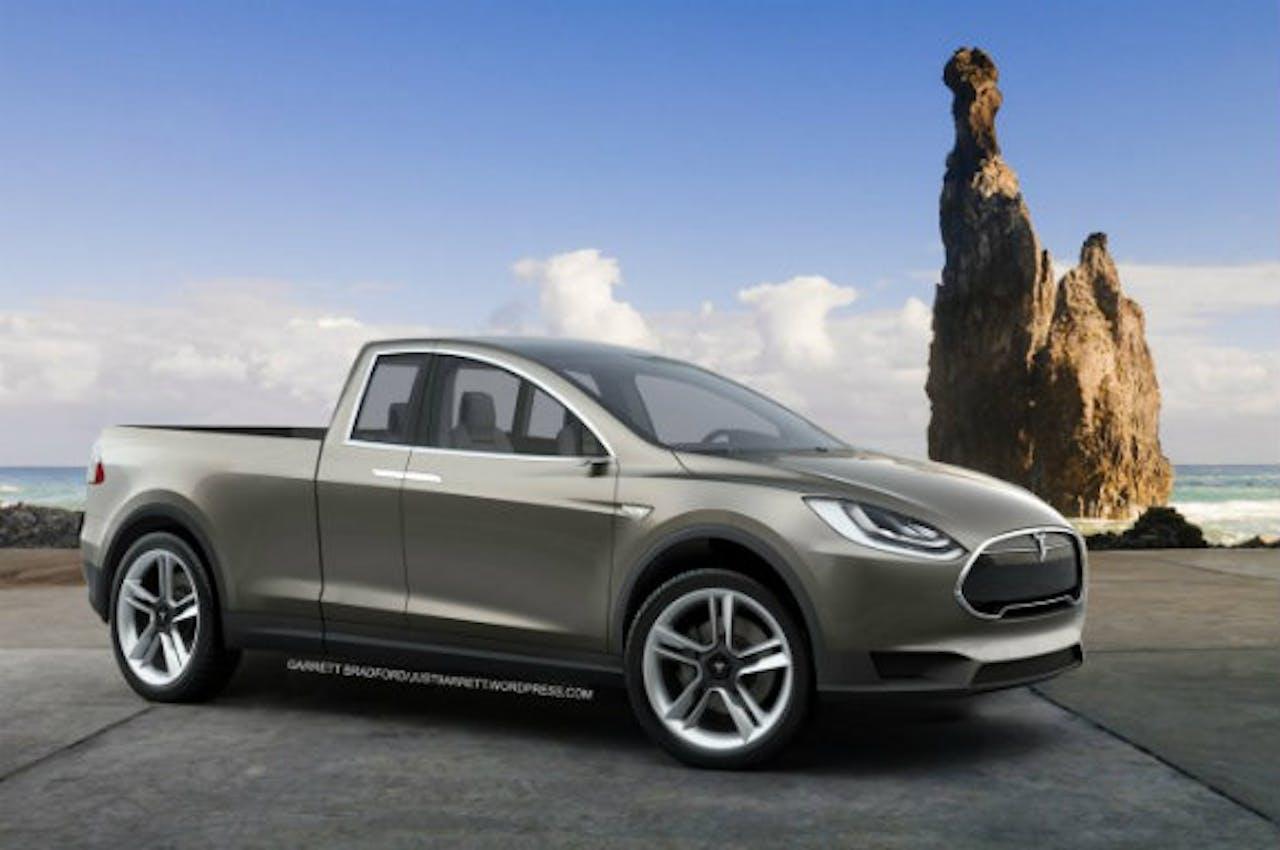 Tesla Pickup, gemaakt met photoshop