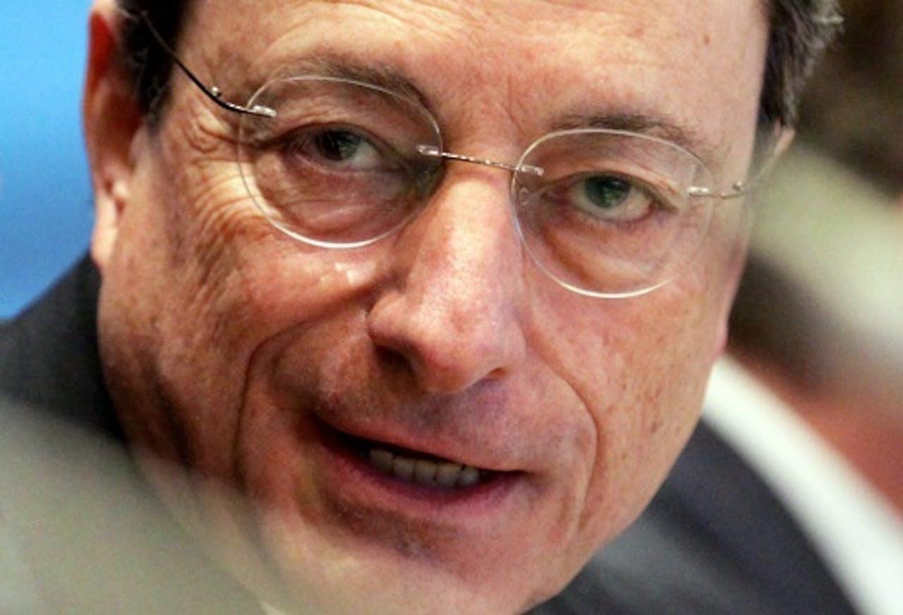 Archiefbeeld van Mario Draghi. EPA