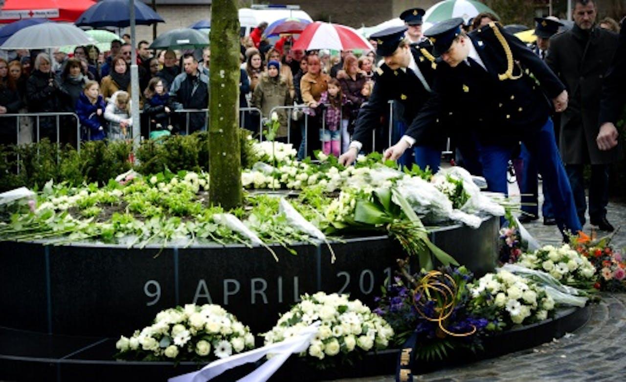 De herdenking in Alphen aan den Rijn vorig jaar. ANP