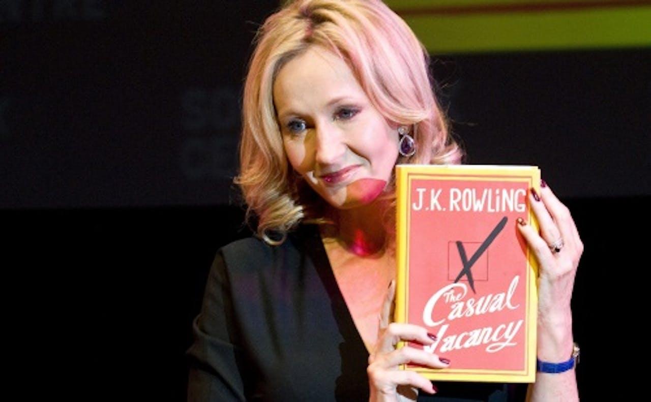 Presentatie van haar boek The Casual Vacancy. EPA