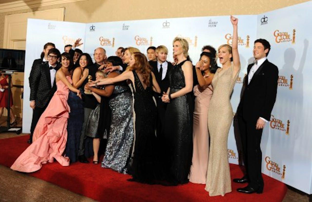 De cast van Glee. EPA
