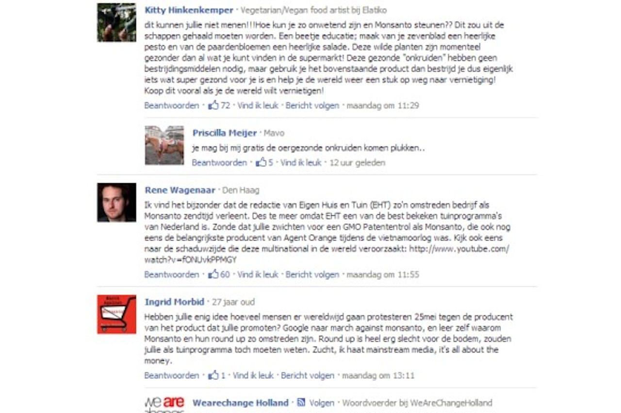 Negatieve reacties op advertorial RTL over onkruidbestrijdingsmiddel