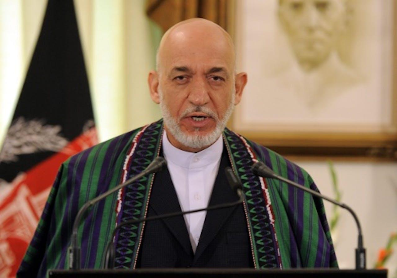 De Afghaanse president Hamid Karza. EPA
