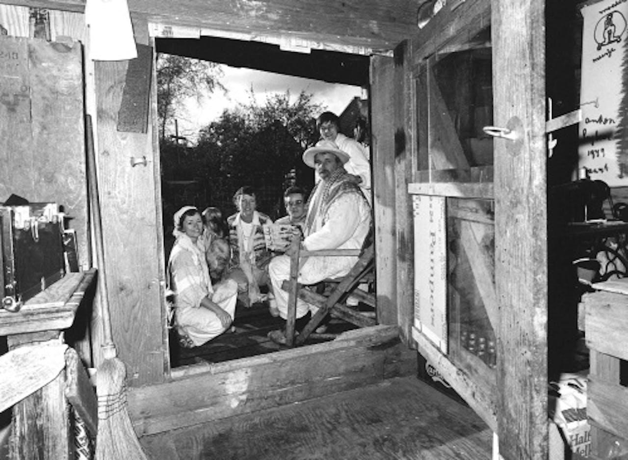 Anton Heyboer en zijn 4 vrouwen: Maria, Joke, Lottie en Marieke. ANP