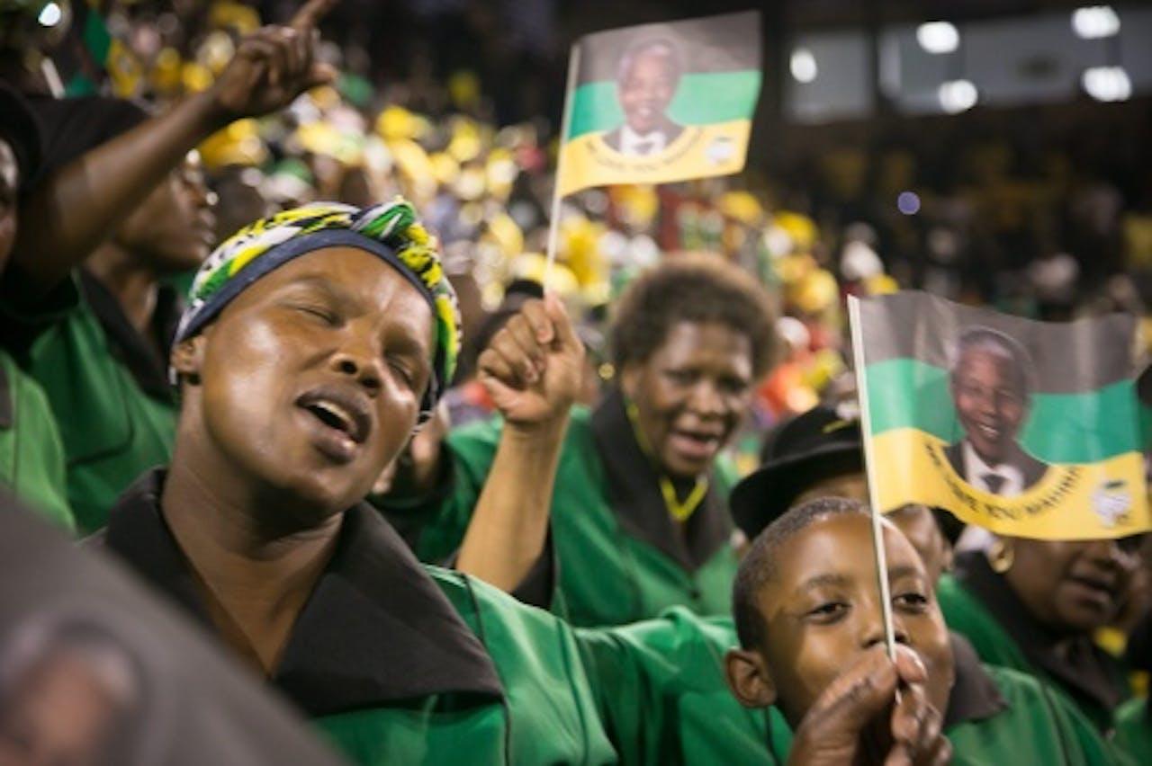 Herdenkingsbijeenkomst in Zuid-Afrikaans stadion. EPA