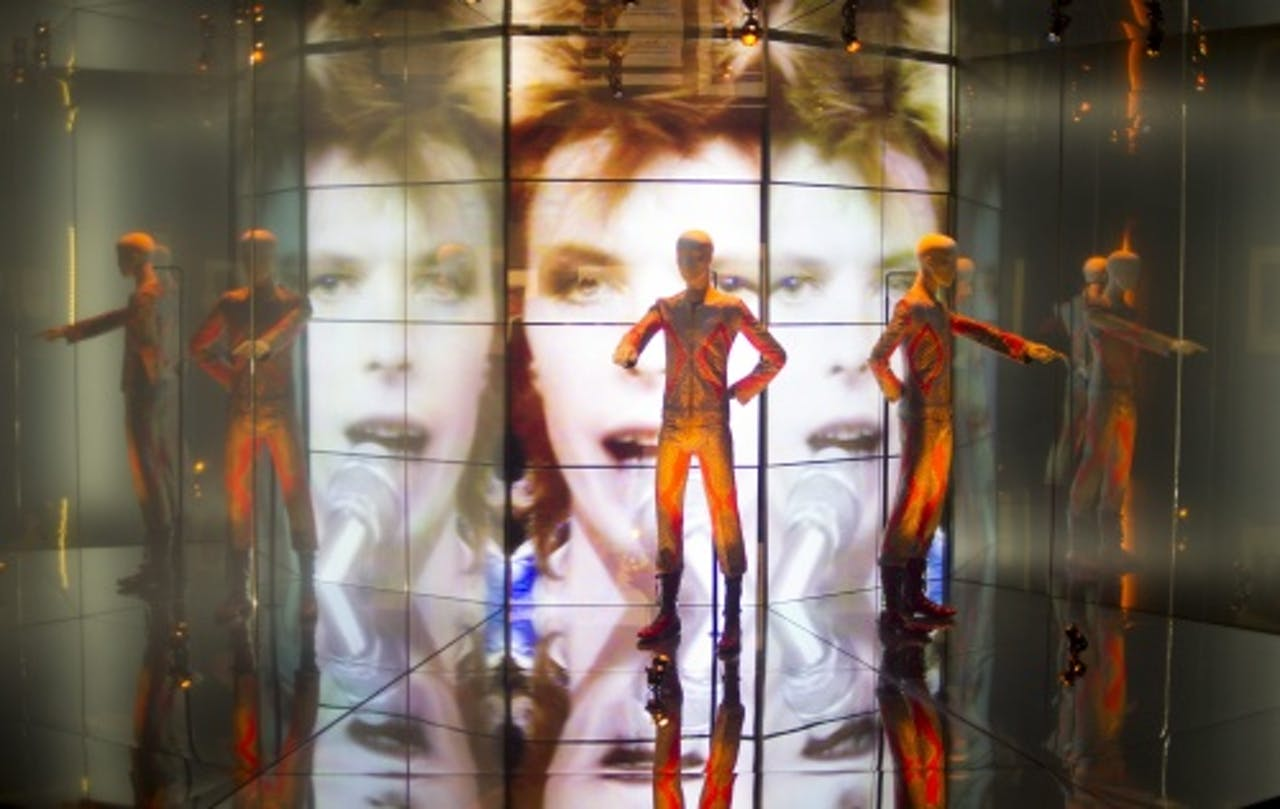 David Bowie exhibition at The Victoria and Albert Museum in London. EPA
