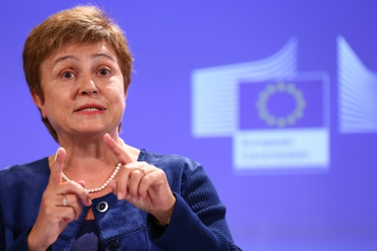 Archiefbeeld van Europees commissaris Kristalina Georgieva. EPA