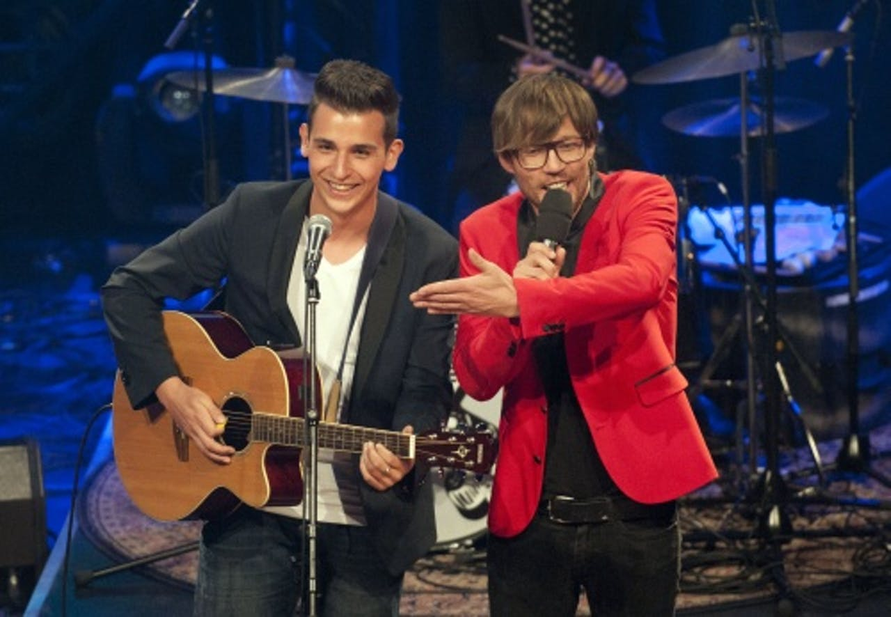 Nielson in de finale van De beste singer-songwriter in 2010. ANP Kippa
