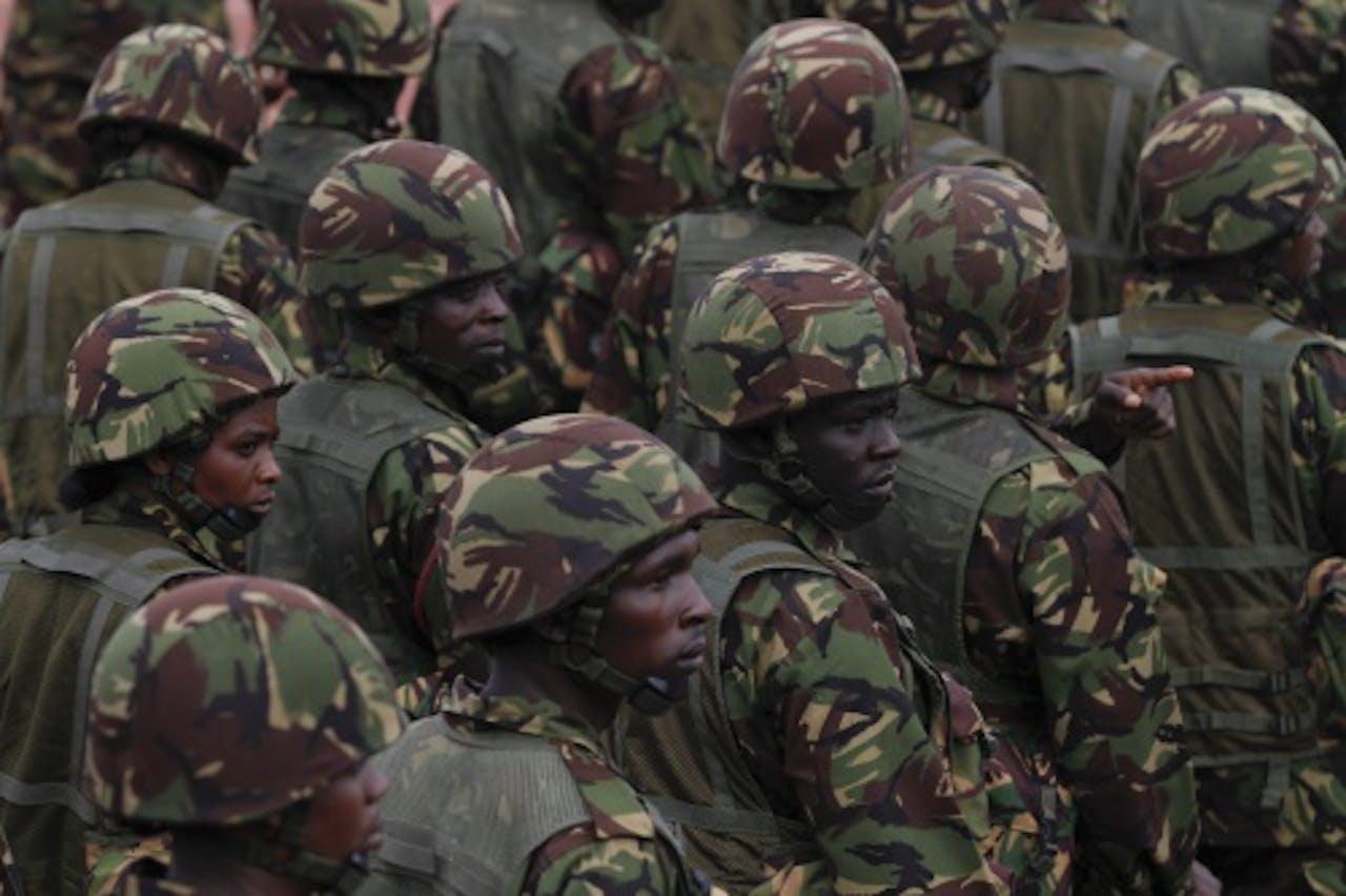 Keniaanse soldaten. EPA
