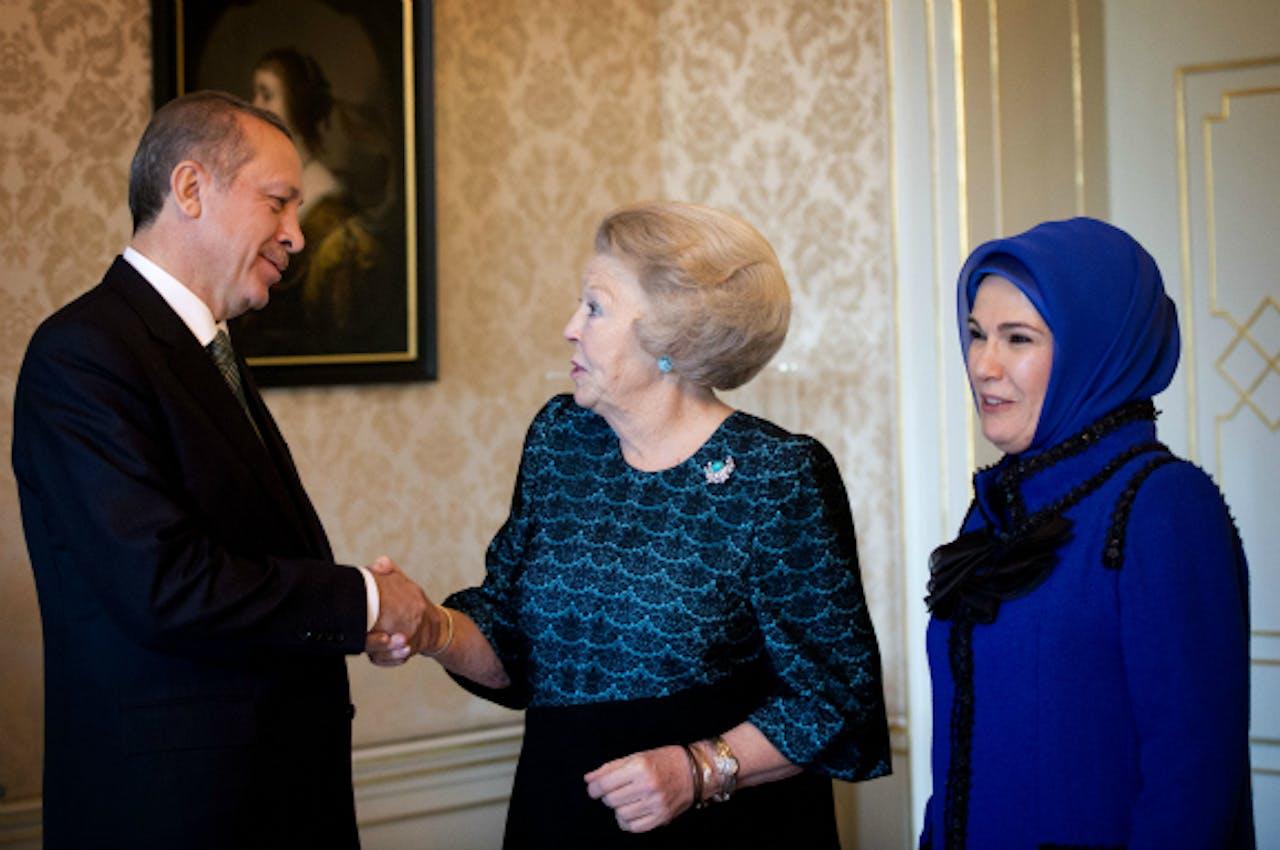 De Turkse premier Erdogan was op bezoek in Nederland