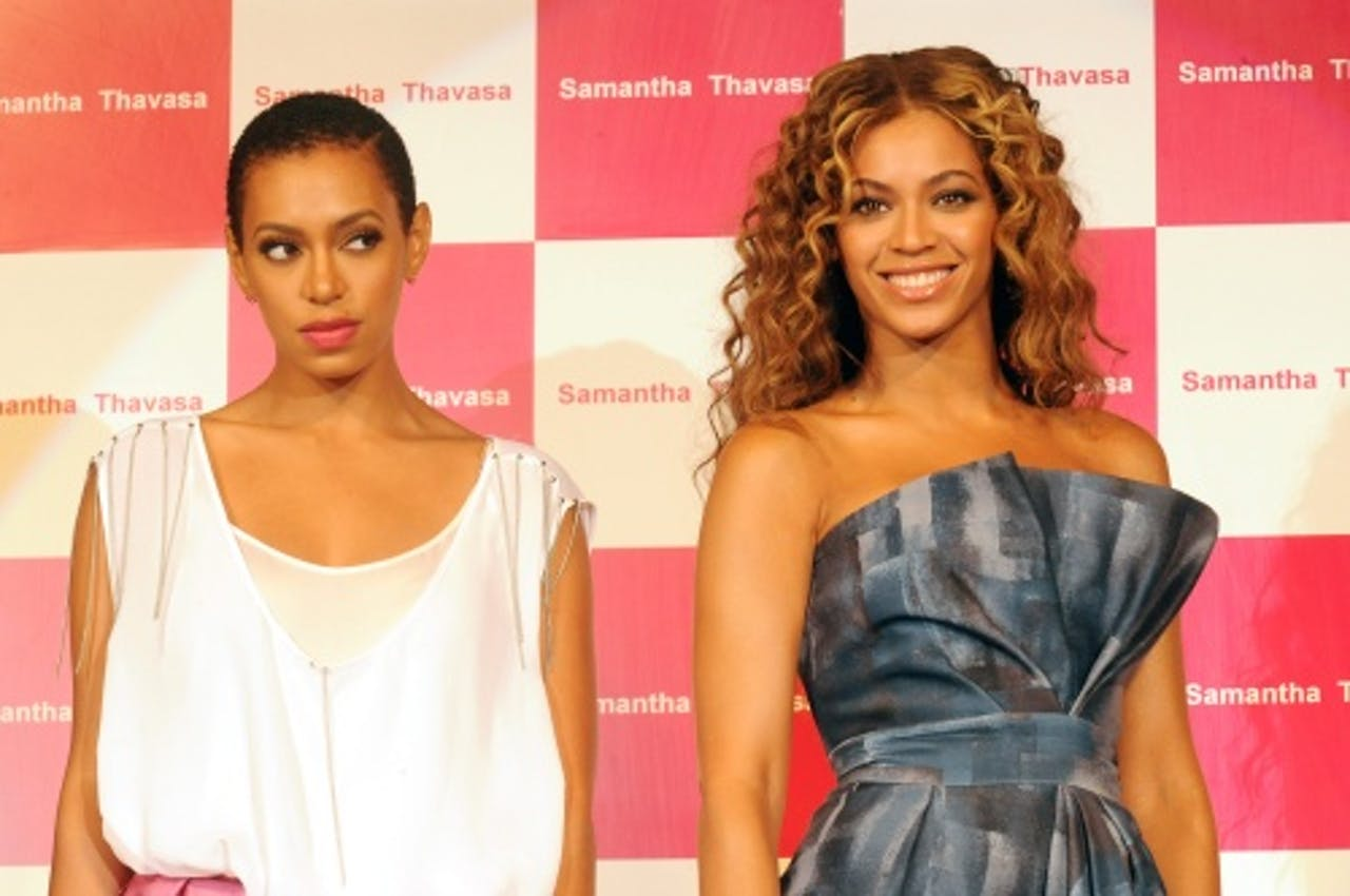Solange (L) en Beyoncé (R). EPA