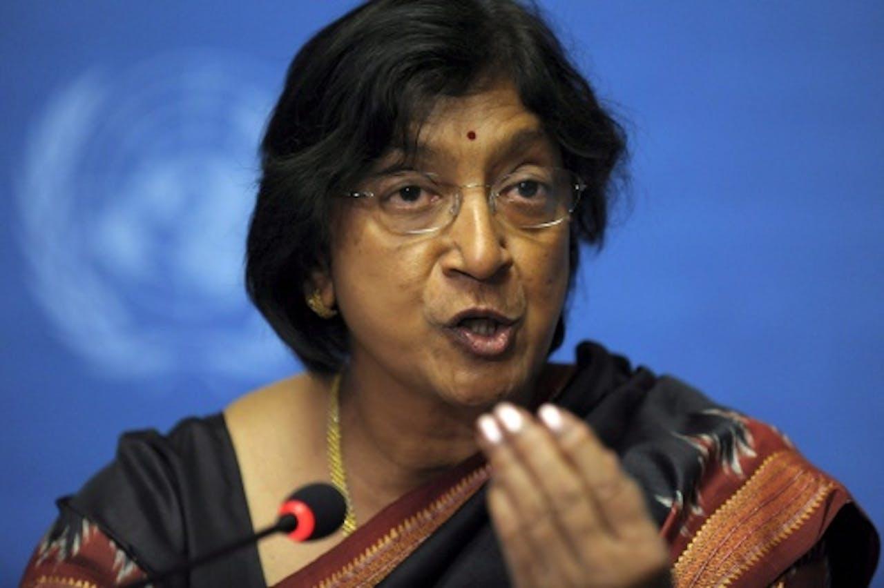 VN-mensenrechtenchef Navi Pillay. EPA