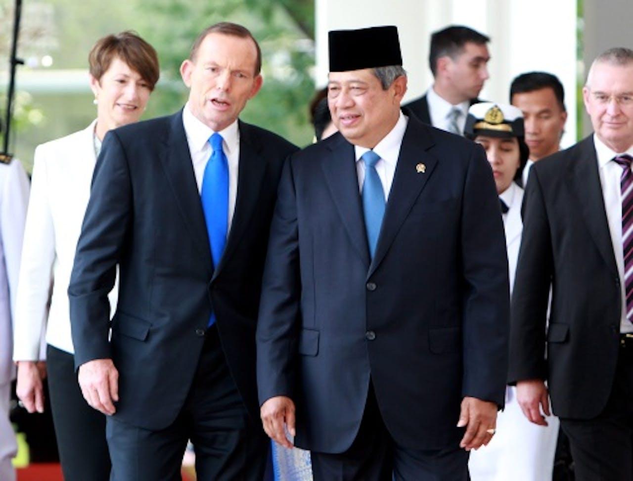 De Australische premier Tony Abbott (L) en de Indonesische president Susilo Bambang Yudhoyono. EPA