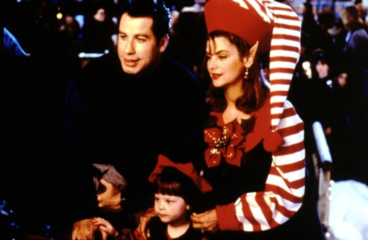 John Travolta en Kirstie Alley in Look Who's Talking in 1992. ANP Kippa