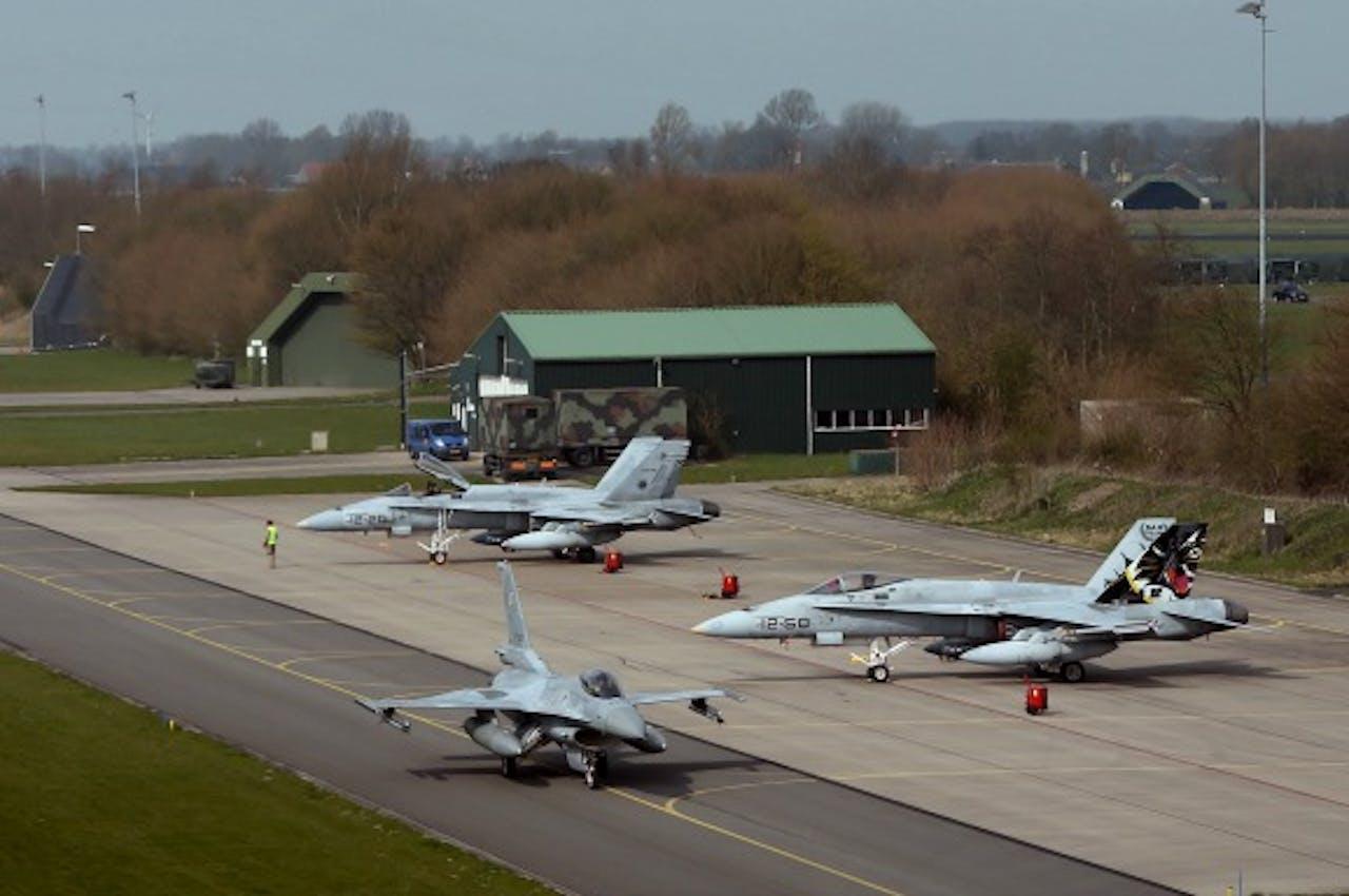 Luchtmachtbasis Volkel. Hier liggen naar alle waarschijnlijkheid kernwapens opgeslagen. Foto: ANP