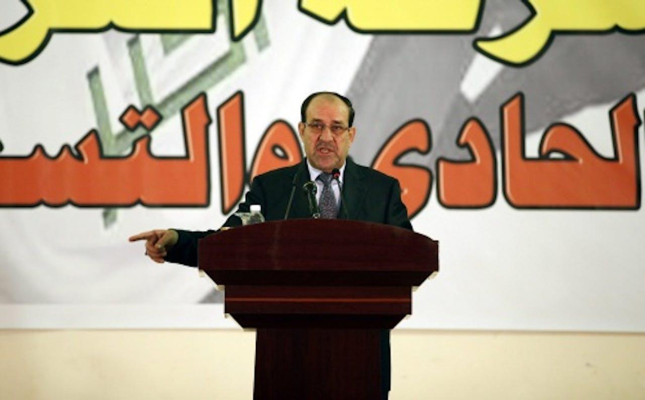 De Iraakse premier Nuri al-Maliki. EPA