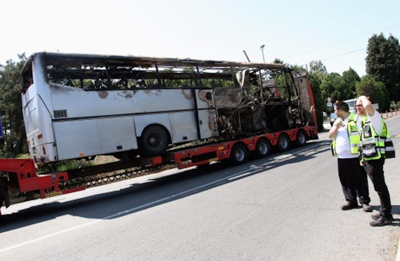 Bomaanslag op een bus met Israëlische toeristen in Bulgarije. EPA