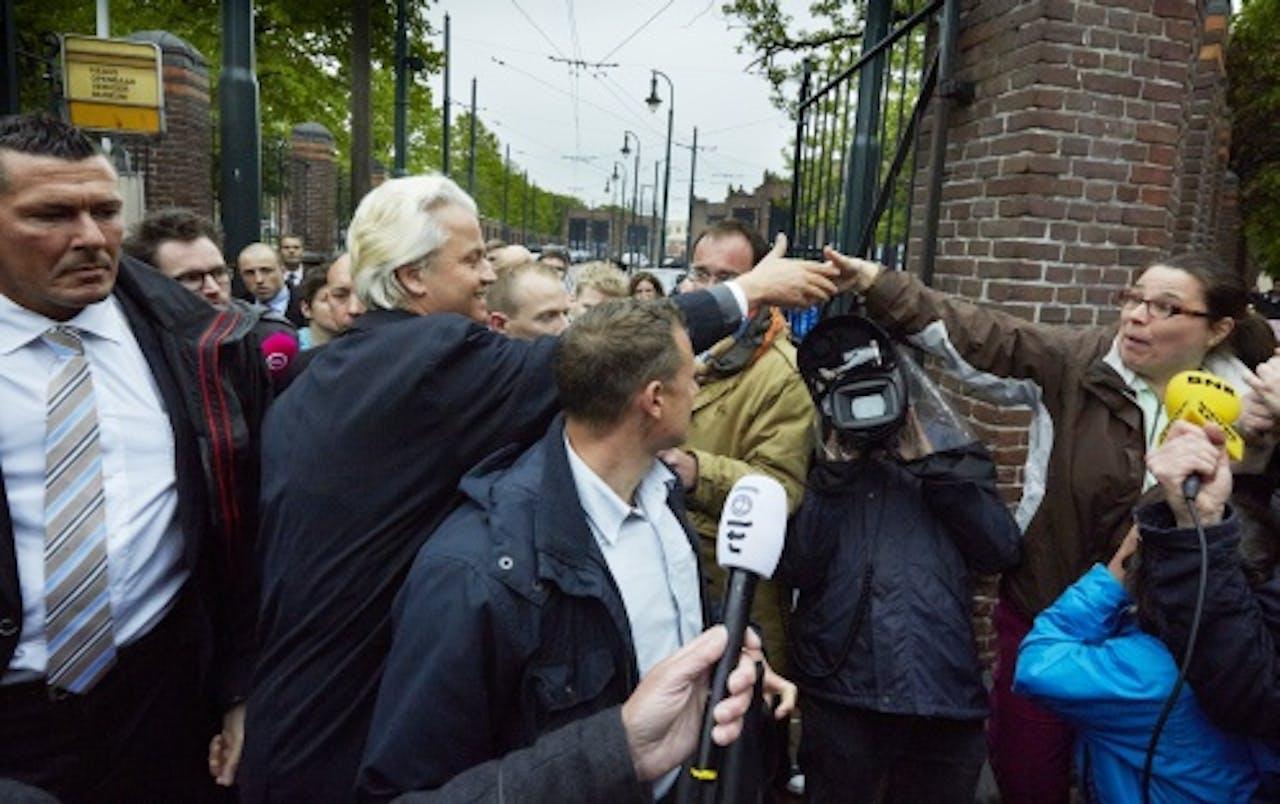 Geert Wilders bezocht deze week de Schilderswijk. ANP