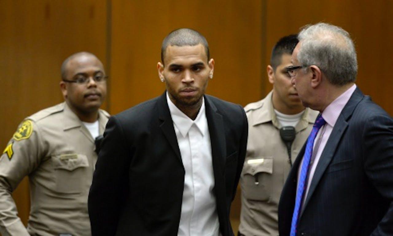 Chris Brown in de rechtbank eerder dit jaar. ANP