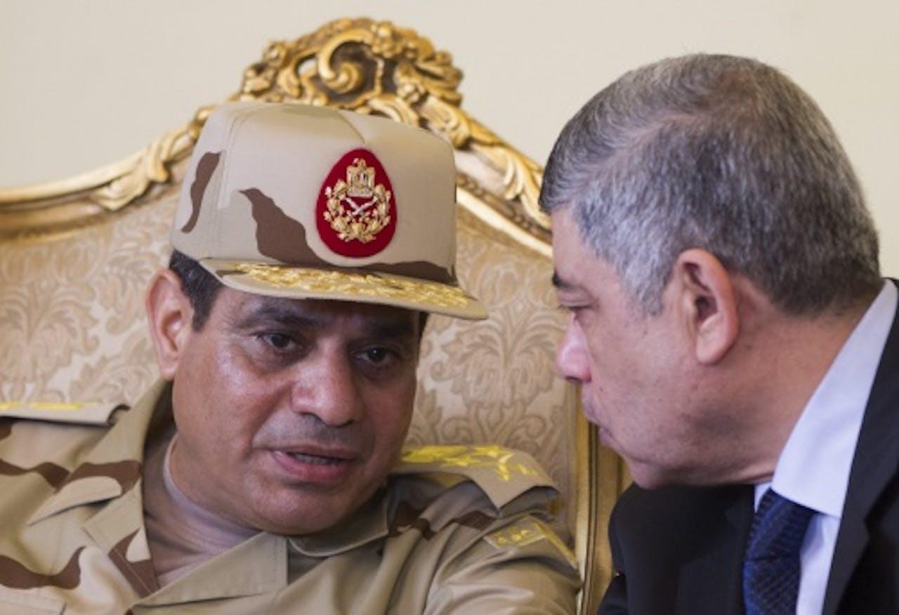 Abdel Fattahal-Sissi (L). EPA