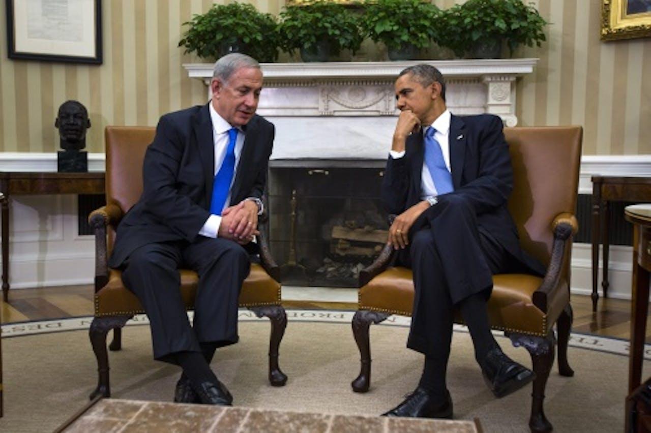 President Barack Obama en zijn Iraëlische ambtgenoot Benjamin Netanyahu. EPA