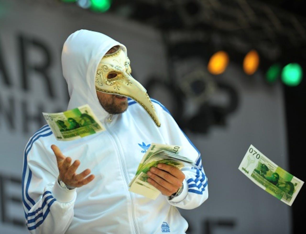 De Kraaien strooiden zelfs met geld. ANP