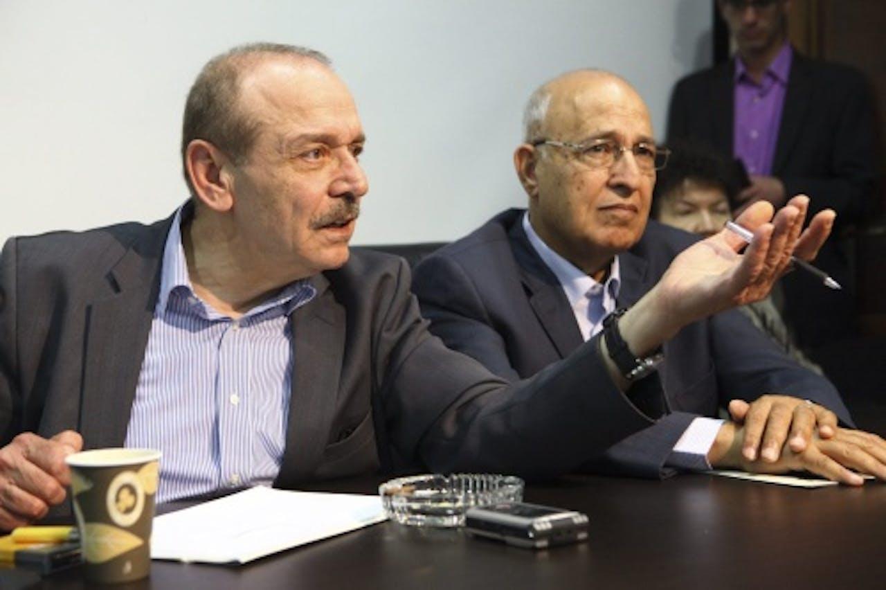 Yasser Abed Rabbo (L). EPA