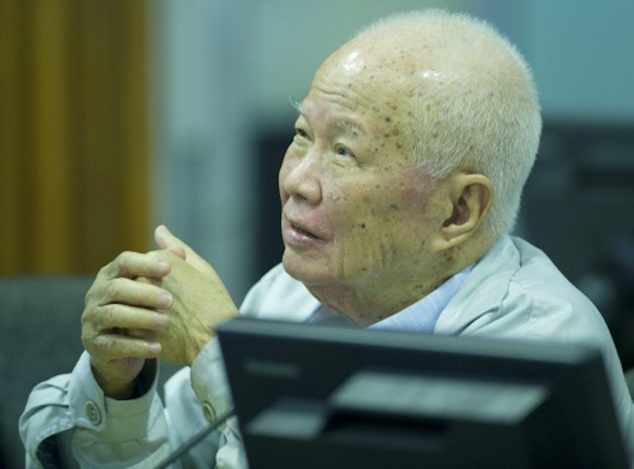 Khieu Samphan. EPA