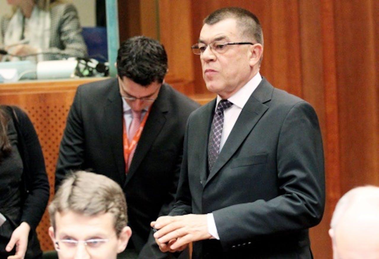 Radu Stroe, de Roemeense afgevaardigde bij de vergadering. EPA