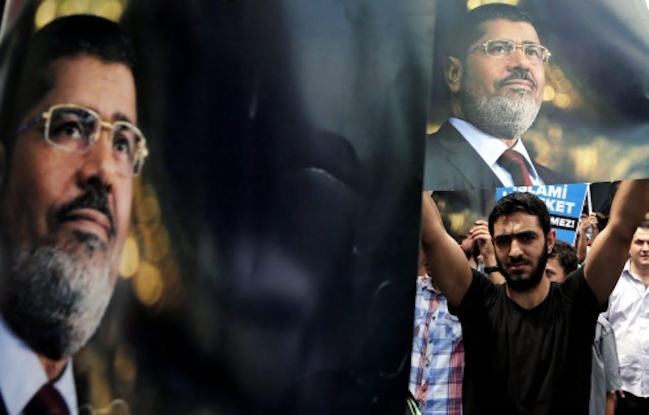 Aanhangers van Mohamed Mursi. EPA