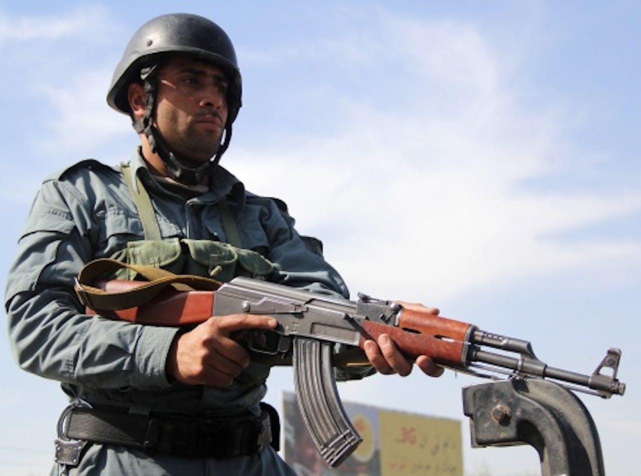 Een Afghaanse politieman. EPA