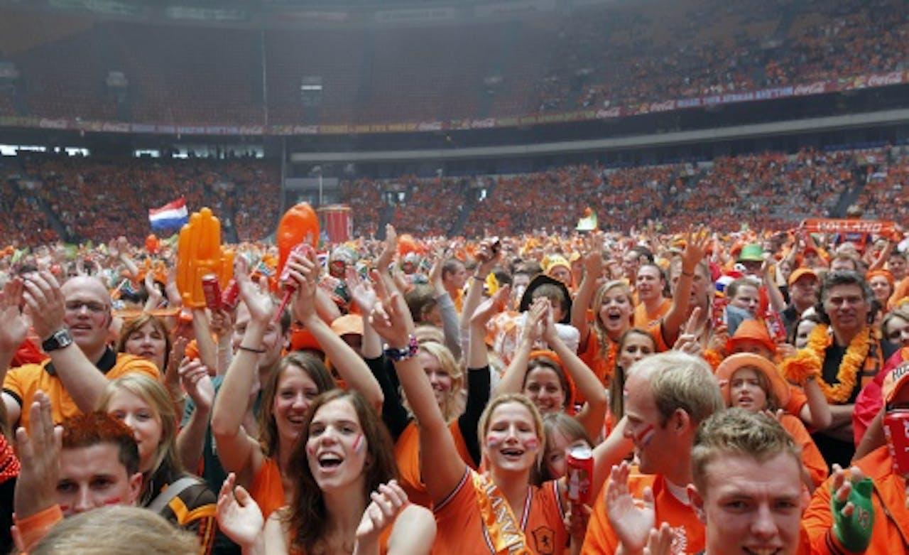 Archiefbeeld oranje supporters Amsterdam Arena. ANP
