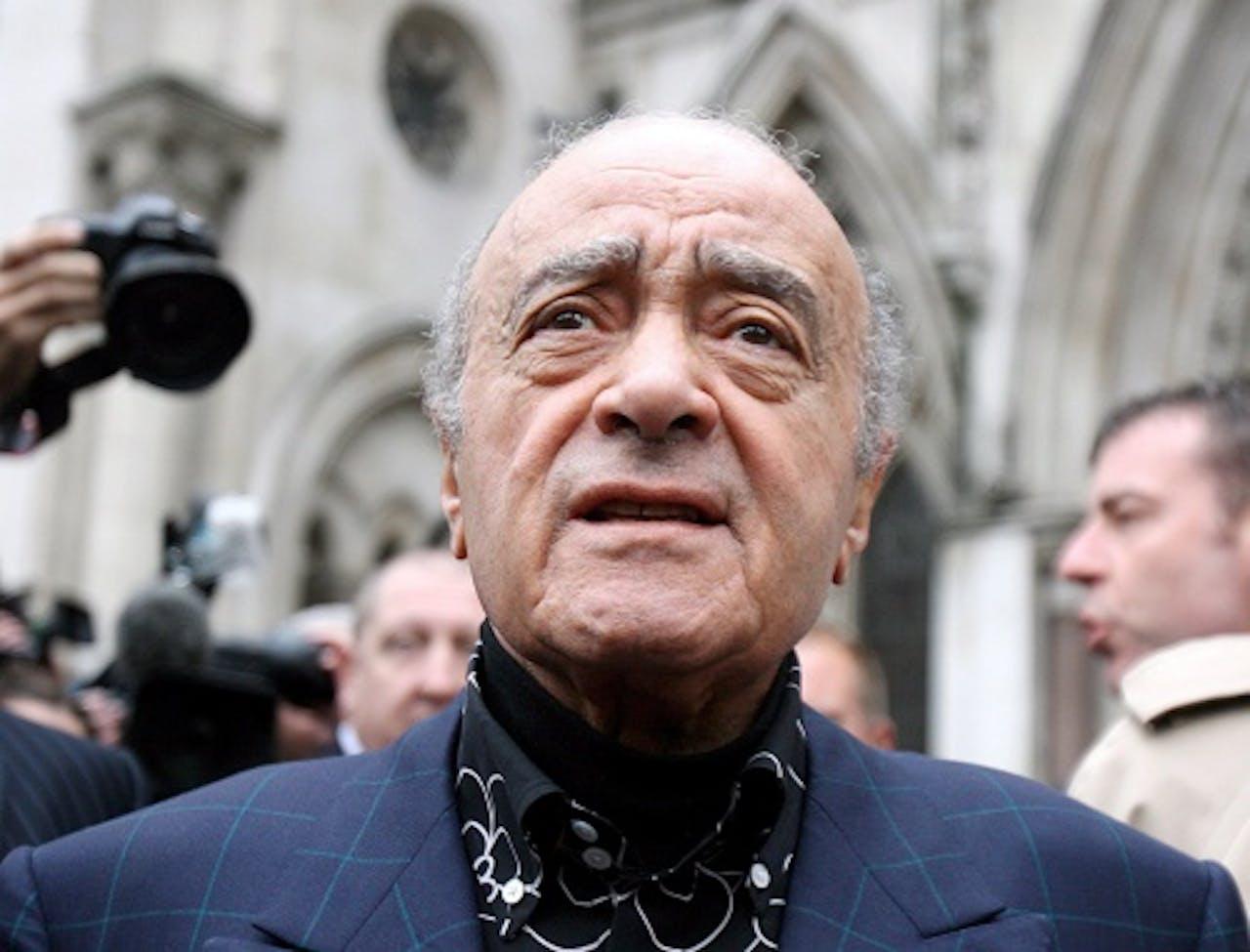 Mohamed Al Fayed op archiefbeeld. EPA