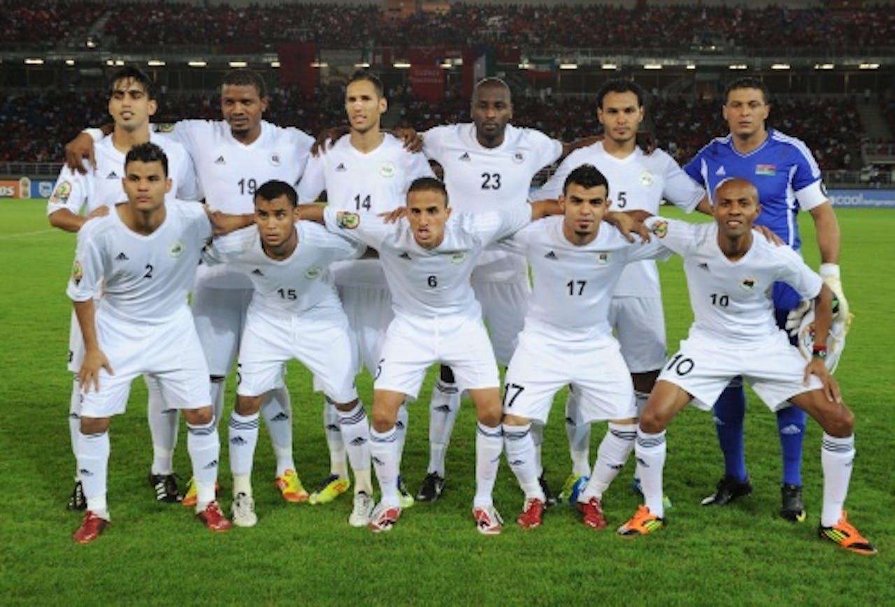 Archiefbeeld van het nationale voetbalelftal van Libië uit 2010. EPA