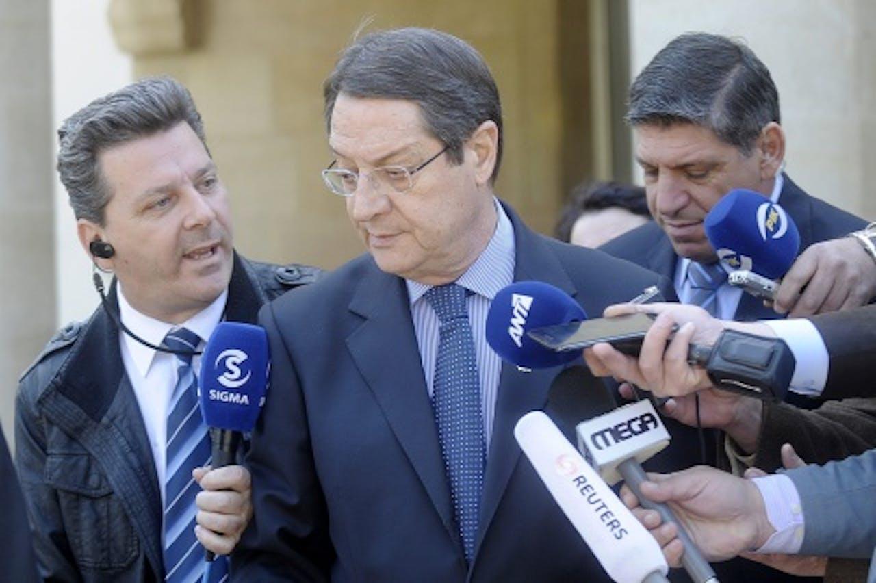 De Cypriotische president Nicos Anastasiades. EPA
