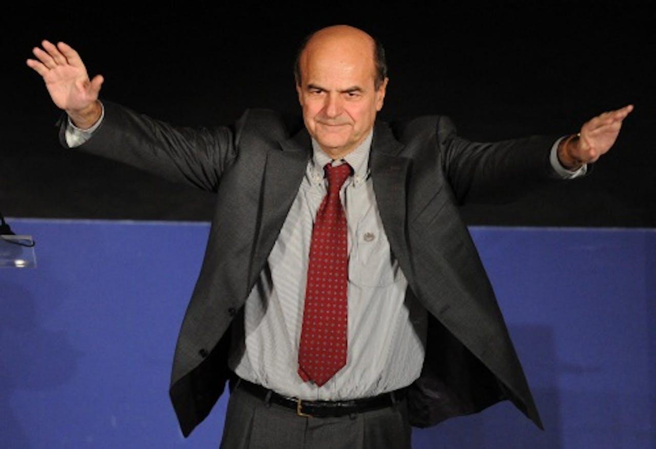 De kandidaat-premier van centrumlinks, Pier Luigi Bersani. EPA