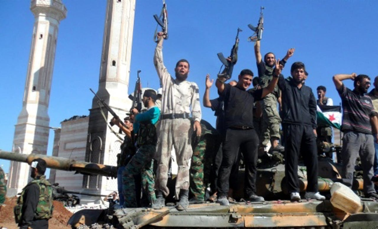 Syrische rebellen in Aleppo. EPA