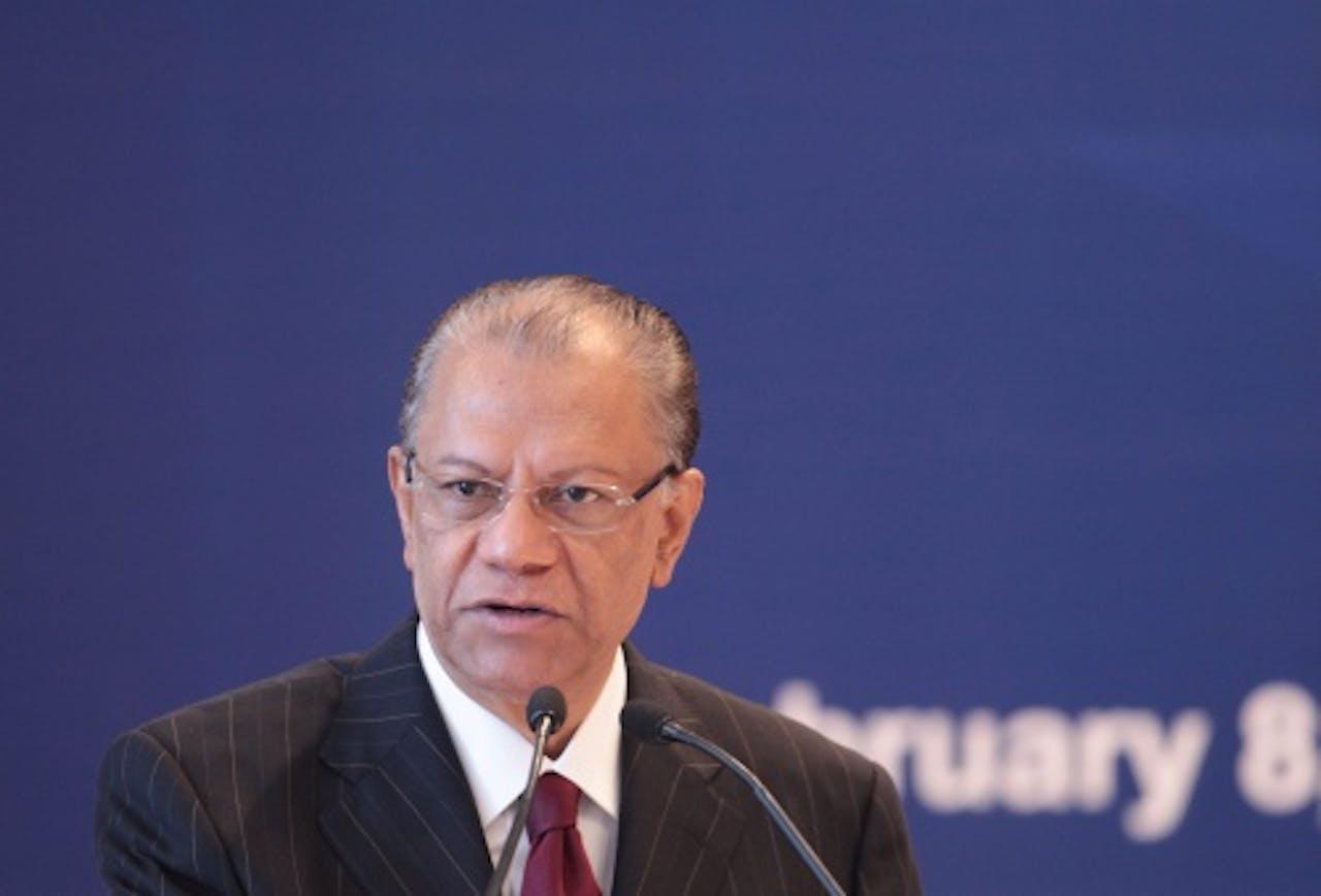 Archiefbeeld van premier Navin Rangoolam. EPA