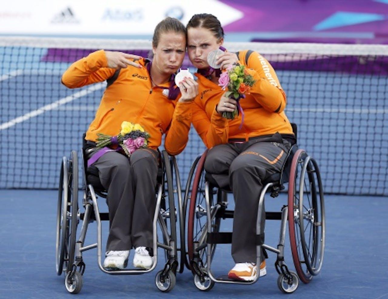 Archiefbeeld Griffioen en Van Koot op de Paralympic Games in 2012. EPA
