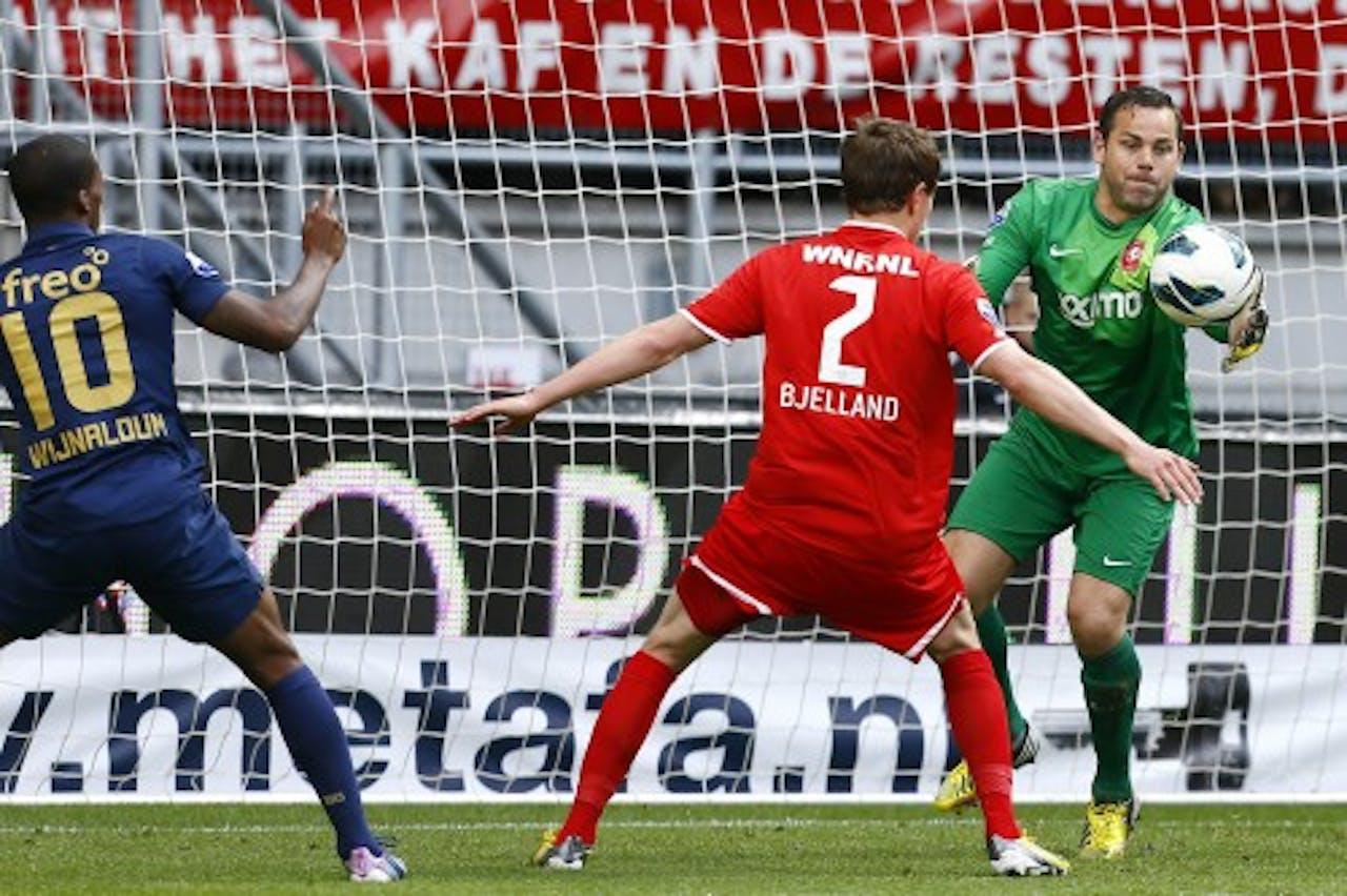 FC Twente keeper Sander Boschker (R) op archief, ANP