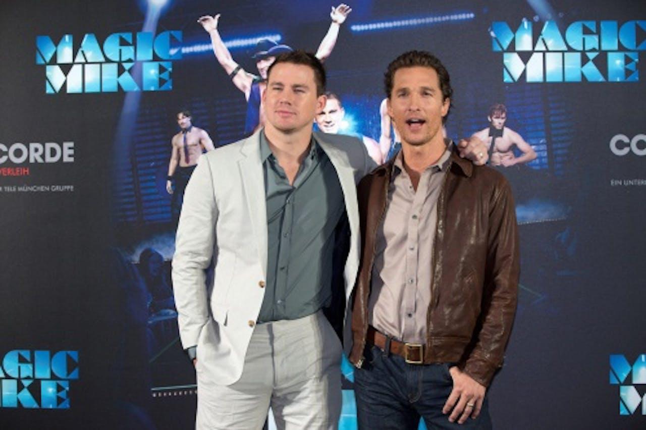 Channing Tatum (L) met collega Matthew McConaughey. EPA
