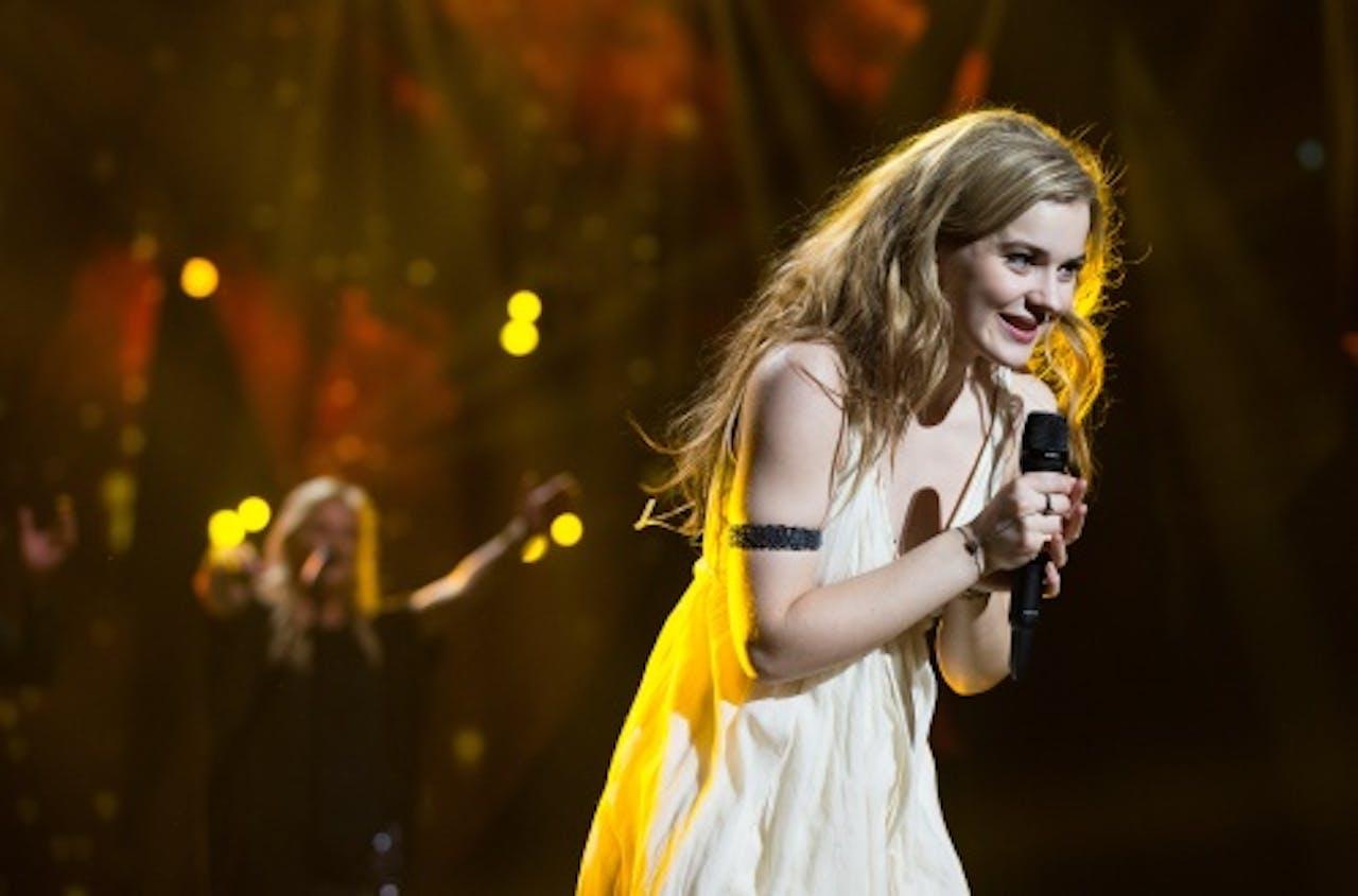 De Deense Emmelie de Forest treedt op na het winnen van het Eurovisiesongfestival in Malmo. ANP Kippa