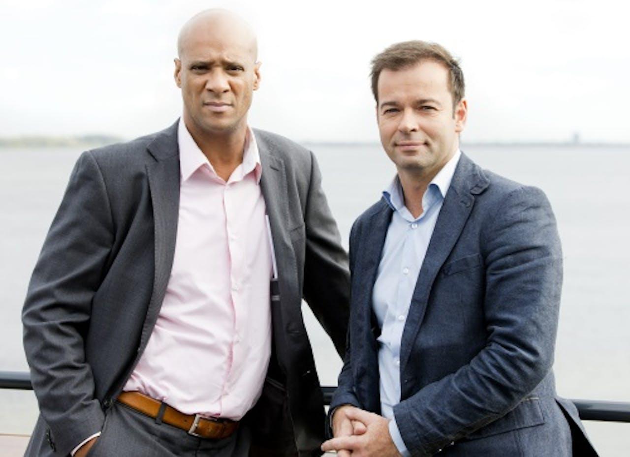 Peter van der Vorst (R) en Jim Geduld. ANP Kippa